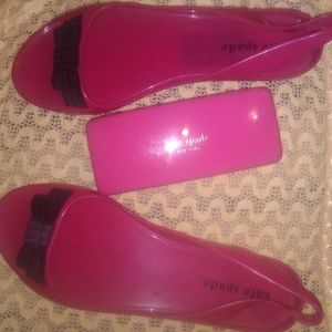 Kate Spade shoes & sunglass case